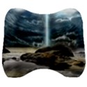 Space Galaxy Hole Velour Head Support Cushion View1