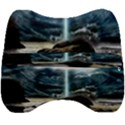 Space Galaxy Hole Velour Head Support Cushion View2