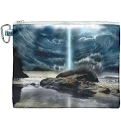 Space Galaxy Hole Canvas Cosmetic Bag (xxxl) by AnjaniArt