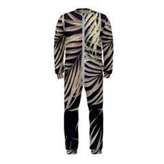 Palm Leaves Painting Grey Onepiece Jumpsuit (kids)