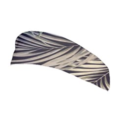 Palm Leaves Painting Grey Stretchable Headband