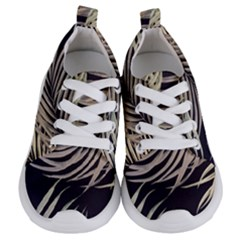 Palm Leaves Painting Grey Kids  Lightweight Sports Shoes