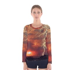 Sunset Lighting Filage Summer Women s Long Sleeve Tee by AnjaniArt