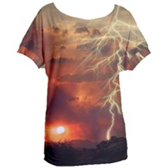 Sunset Lighting Filage Summer Women s Oversized Tee