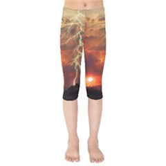 Sunset Lighting Filage Summer Kids  Capri Leggings