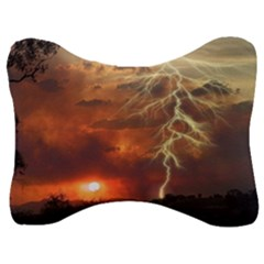 Sunset Lighting Filage Summer Velour Seat Head Rest Cushion by AnjaniArt