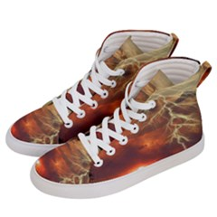 Sunset Lighting Filage Summer Women s Hi Top Skate Sneakers by AnjaniArt