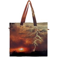 Sunset Lighting Filage Summer Canvas Travel Bag