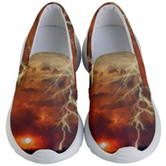 Sunset Lighting Filage Summer Kid s Lightweight Slip Ons by AnjaniArt