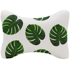 Tropical Imitation Green Leaves Hawaiian Green Seat Head Rest Cushion by AnjaniArt