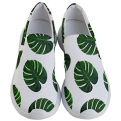 Tropical Imitation Green Leaves Hawaiian Green Women s Lightweight Slip Ons by AnjaniArt