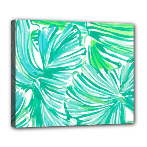 Painting Leafe Green Summer Deluxe Canvas 24  X 20  (stretched)