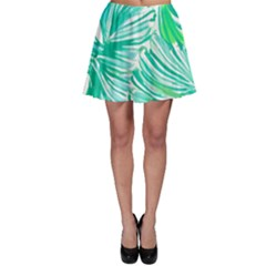 Painting Leafe Green Summer Skater Skirt