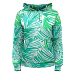Painting Leafe Green Summer Women s Pullover Hoodie