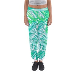Painting Leafe Green Summer Women s Jogger Sweatpants