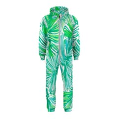 Painting Leafe Green Summer Hooded Jumpsuit (kids)