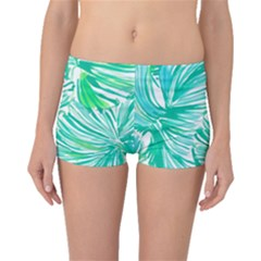 Painting Leafe Green Summer Boyleg Bikini Bottoms