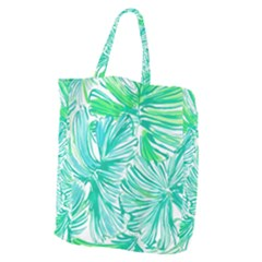 Painting Leafe Green Summer Giant Grocery Tote