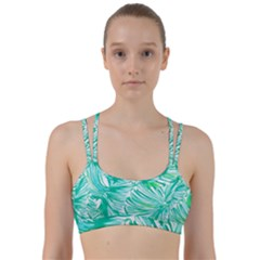 Painting Leafe Green Summer Line Them Up Sports Bra by AnjaniArt