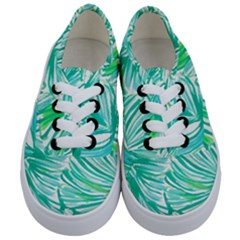 Painting Leafe Green Summer Kids  Classic Low Top Sneakers