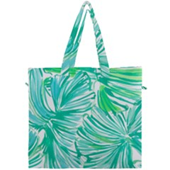 Painting Leafe Green Summer Canvas Travel Bag