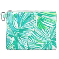 Painting Leafe Green Summer Canvas Cosmetic Bag (xxl) by AnjaniArt