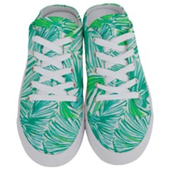 Painting Leafe Green Summer Half Slippers