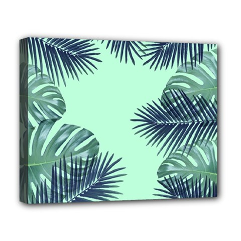 Tropical Leaves Green Leaf Deluxe Canvas 20  X 16  (stretched)