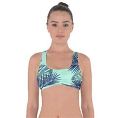 Tropical Leaves Green Leaf Got No Strings Sports Bra