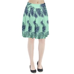 Tropical Leaves Green Leaf Pleated Skirt