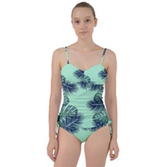 Tropical Leaves Green Leaf Sweetheart Tankini Set