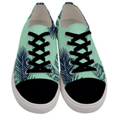 Tropical Leaves Green Leaf Men s Low Top Canvas Sneakers