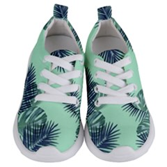 Tropical Leaves Green Leaf Kids  Lightweight Sports Shoes