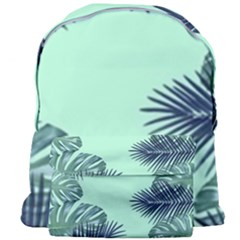 Tropical Leaves Green Leaf Giant Full Print Backpack