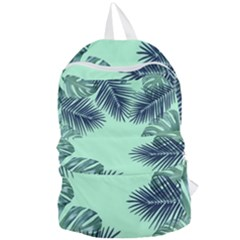 Tropical Leaves Green Leaf Foldable Lightweight Backpack