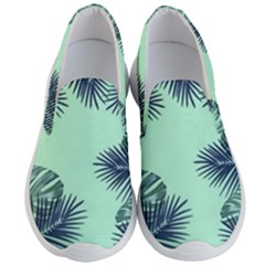 Tropical Leaves Green Leaf Men s Lightweight Slip Ons