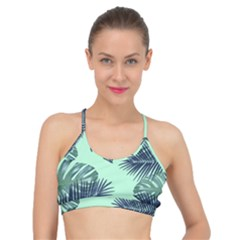 Tropical Leaves Green Leaf Basic Training Sports Bra by AnjaniArt