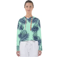 Tropical Leaves Green Leaf Women s Slouchy Sweat