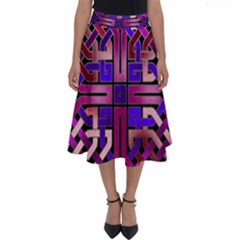 Pink Celtic Knot Square Perfect Length Midi Skirt