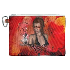 The Fairy Of Music Canvas Cosmetic Bag (xl) by FantasyWorld7