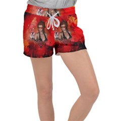 The Fairy Of Music Women s Velour Lounge Shorts