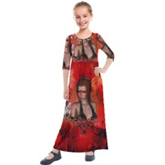 The Fairy Of Music Kids  Quarter Sleeve Maxi Dress by FantasyWorld7