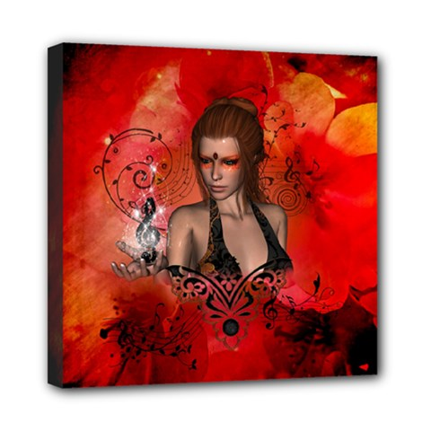 The Fairy Of Music Mini Canvas 8  X 8  (stretched) by FantasyWorld7