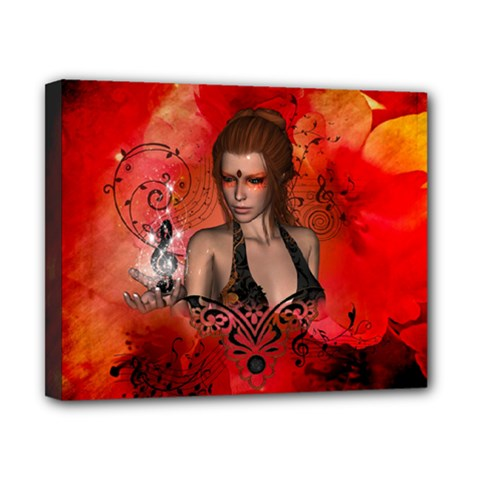 The Fairy Of Music Canvas 10  X 8  (stretched) by FantasyWorld7