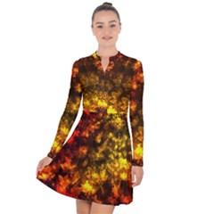 Fall Leaves In Bokeh Lights Long Sleeve Panel Dress by bloomingvinedesign
