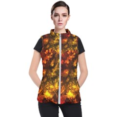 Fall Leaves In Bokeh Lights Women s Puffer Vest