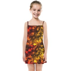 Fall Leaves In Bokeh Lights Kids Summer Sun Dress by bloomingvinedesign