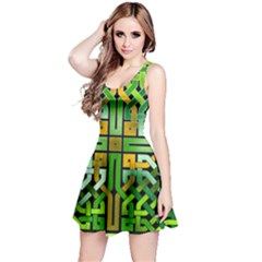 Green Celtic Knot Square Reversible Sleeveless Dress by bloomingvinedesign