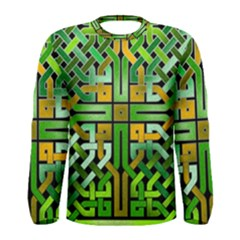 Green Celtic Knot Square Men s Long Sleeve Tee by bloomingvinedesign