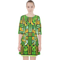 Green Celtic Knot Square Pocket Dress by bloomingvinedesign